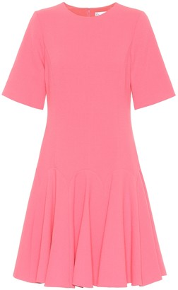 Oscar de la Renta Stretch wool-crepe dress