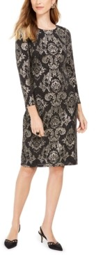 Jessica Howard Petite Metallic Sheath Dress