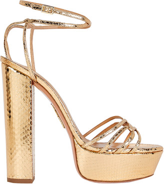 Aquazzura First Kiss 140 Plateau Sandals