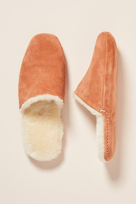 Freda Salvador Freda Savador James Shearling-Lined Slippers By in Pink Size S
