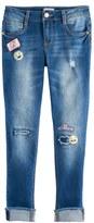 SO Girls 7-16 & Plus Size SO® Patch Applique Girlfriend Jeans