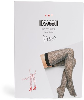 Wolford Floral Lace Reese Stay Ups
