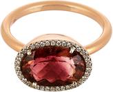 Irene Neuwirth Diamond, tourmaline & rose-gold ring