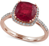 Effy Rosa by Ruby (3-1/8 ct. t.w.) and Diamond (1/4 ct. t.w.) Ring in 14k Rose Gold
