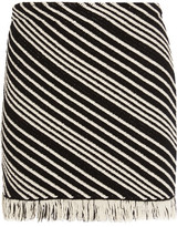 Sonia Rykiel Fringed Striped Cotton-blend Mini Skirt - Black