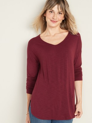 Old Navy Luxe V-Neck Tunic Tee for Women