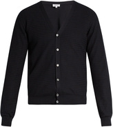 Brioni Zigzag waffle-knit cotton cardigan