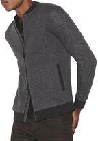 John Varvatos Quilted Long Sleeve Knit Jacket