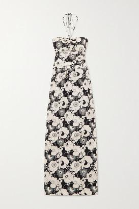 Georgia Alice Valentina Floral-print Stretch-cotton Maxi Dress - White