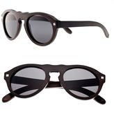 Earth Wood Oval Unisex Sunglasses