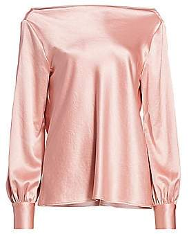 Milly Women's Hammered Satin Rachele Cowl-Back Top - Size 0