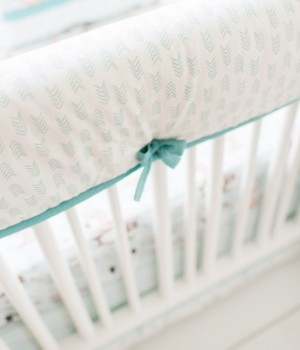 My Baby Sam Forest Friends Crib Rail Cover Bedding