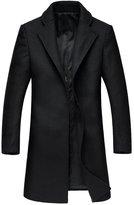 Oncefirst Mens Wool Classic Pea Coat Winter Coat 38-40