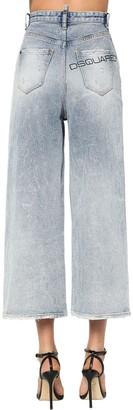 DSQUARED2 Blue Acid Wash Cotton Denim Page Jeans