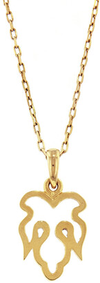 Nevernot Ready To Adorn Mini Leaf Yellow Gold Necklace