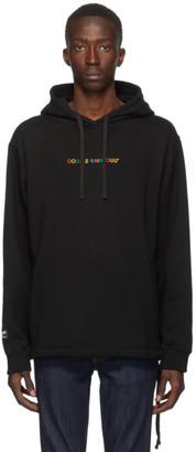 Double Rainbouu Black Logo Couch Surf Hoodie