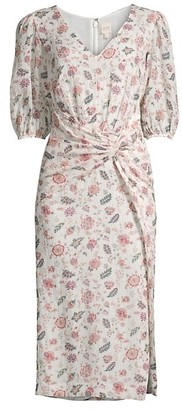 Rebecca Taylor Isabella Puff-Sleeve Dress