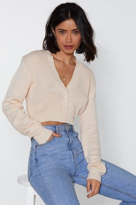 Nasty Gal Womens Button Cropped Cardigan - white - S