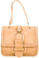 Jimmy Choo Whipstitched Leather Shoulder Bag