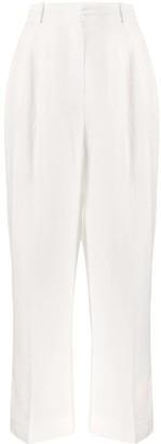 Sandro Paris Pleated High-Waist Trousers