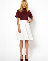 Asos Midi Skirt in Scuba with Zips