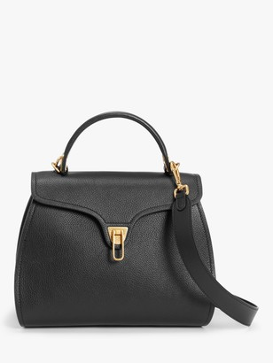 Coccinelle Marvin Leather Shoulder Bag, Black