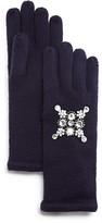Aqua Embellished Gloves