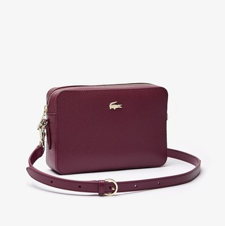 Lacoste Womens Chantaco Leather Square Shoulder Bag