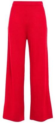 Mansur Gavriel Alpaca And Silk-blend Wide-leg Pants
