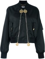 Givenchy double zip bomber jacket - women - Polyamide/Viscose - 36