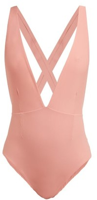Haight Marina Deep V-neck Jersey Swimsuit - Womens - Pink