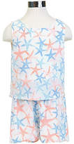 Nautica Little Girls' Starfish Romper (2T-7)