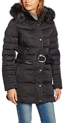 Lights of London Women's 298 Quilted Long Sleeve Jacket - Black - UK 18