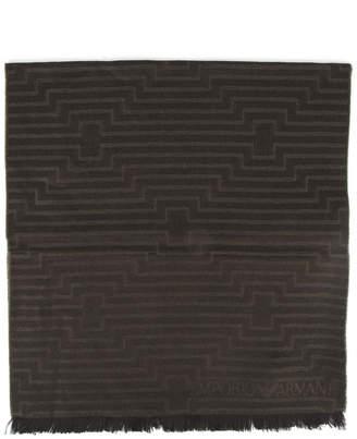 Emporio Armani Oliver Wool Stripes Scarf