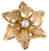 14K Flower Pearl Tie Tack