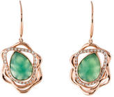 Catherine Malandrino Diamond & Dyed Agate Abstract Earrings