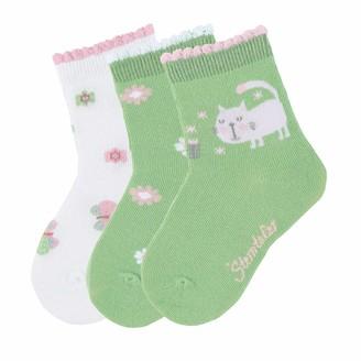 Sterntaler Girl's Sockchen 3er-Pack Katze Calf Socks