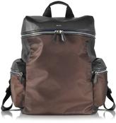 Paul Smith Black Nappa and Brown Nylon Men's Rucksack w/Side Pockets