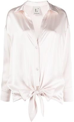 L'Autre Chose Tie-Waist Silk Shirt