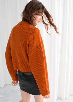 And other stories Wool Blend Rib Knit Sweater