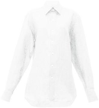 Emma Willis Slubbed Linen Poplin Shirt - Womens - White