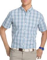 Izod Seaside Poplin Woven Short Sleeve Shirt