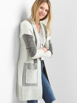 Gap Patchwork open-front cardigan