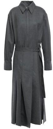 Joseph Belted Wool-blend Flannel Coat
