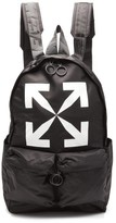 Off-White Off White Logo-print Nylon Backpack - Mens - Black
