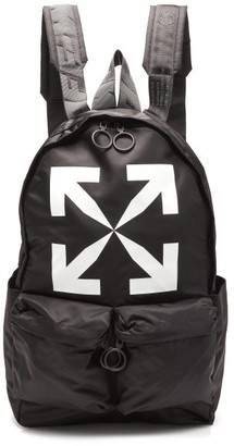 Off-White Logo-print Nylon Backpack - Black