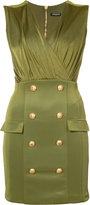 Balmain military cocktail dress - women - Polyamide/Spandex/Elastane/Viscose - 32