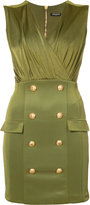 Balmain military cocktail dress - women - Polyamide/Spandex/Elastane/Viscose - 36
