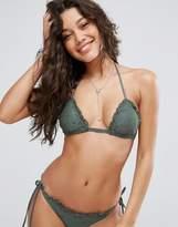 Asos Mix And Match Crochet Triangle Bikini Top