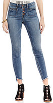 William Rast Frayed Hem High Rise Ankle Jeans